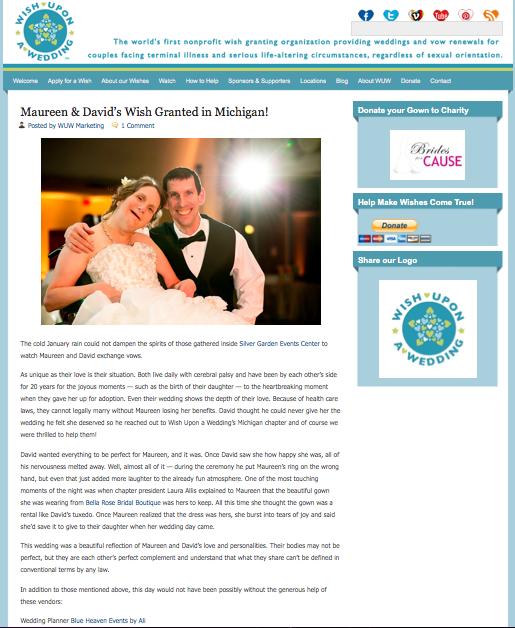 Wish Upon a Wedding Maureen & David